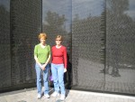 Glenda and Donna at Vietnam Memorial