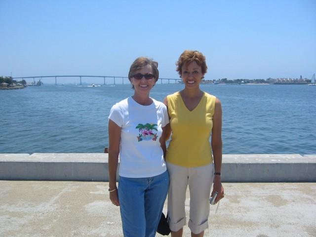 Mission Beach area Coronado Bridge behind us