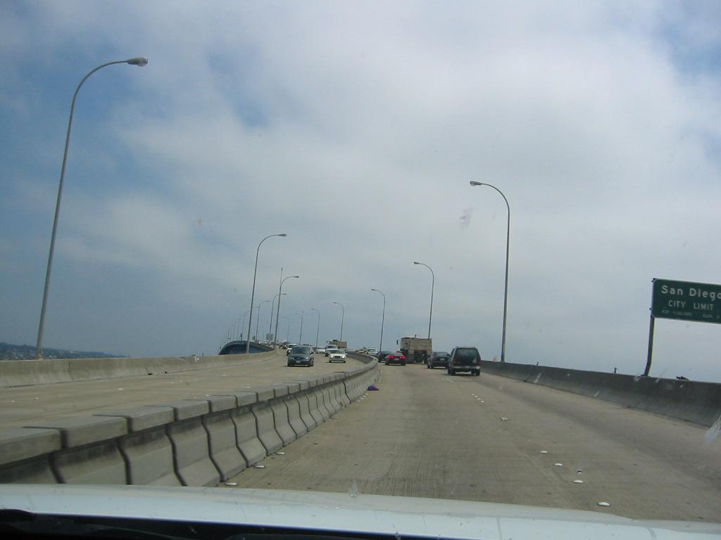 On the bridge to Coronado Island