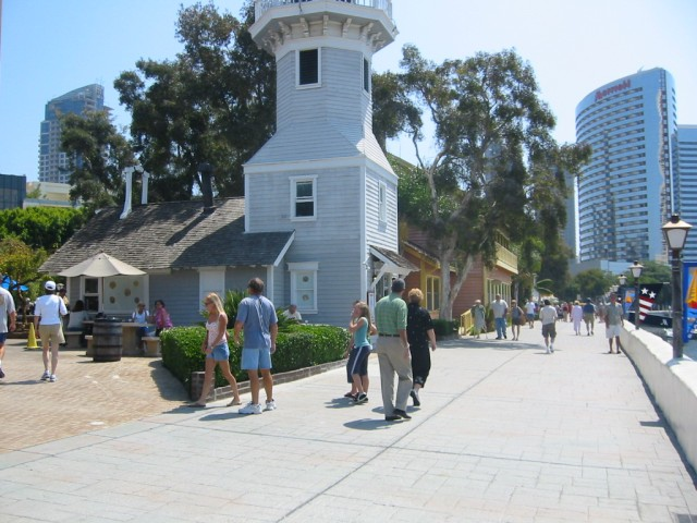 Looking south from Seaport Village