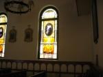 Beautiful stained glass window in Catholic Church