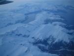 Flying into Alaska at midnight