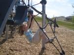 Megan climbing