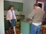 Kitchen at apartment