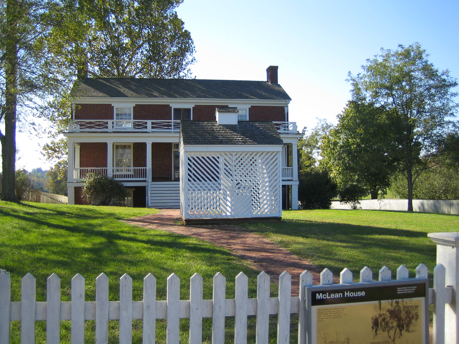 Front of McLean House