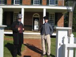 Actors at Appomattox (a newspaperman and a Confederate soldier)