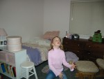 Megan in her room