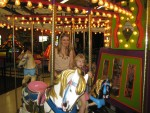Lauren on the merry go round