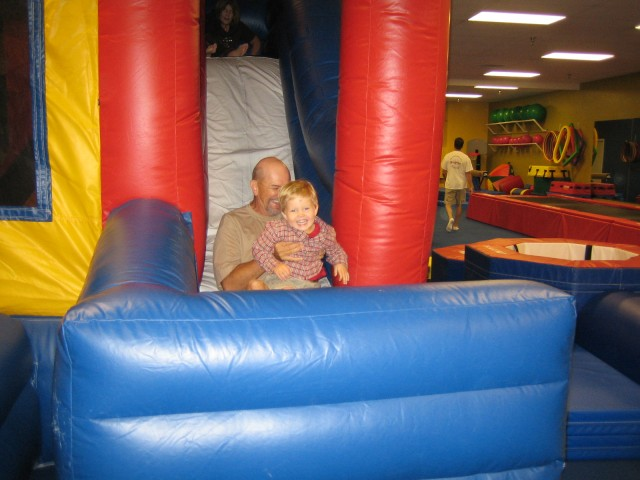 Nathan and Poppa on the slide