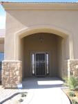 Front door with security door