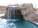 The waterfall over the cave
