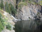 Waterfall on way to Portage on Turnagain Arm