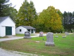 Cemetery in a back yard