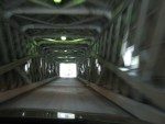 Driving through the Covered Bridge