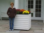 Glenda in front of Rockwell Museum