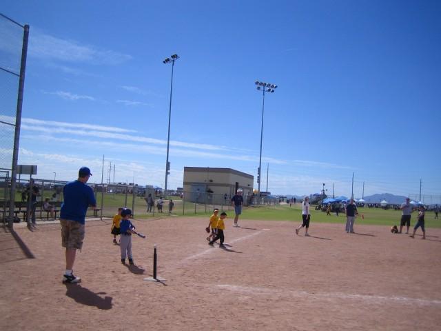 Taking a practice swing
