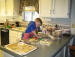 Nathan helps Nonna make cookies